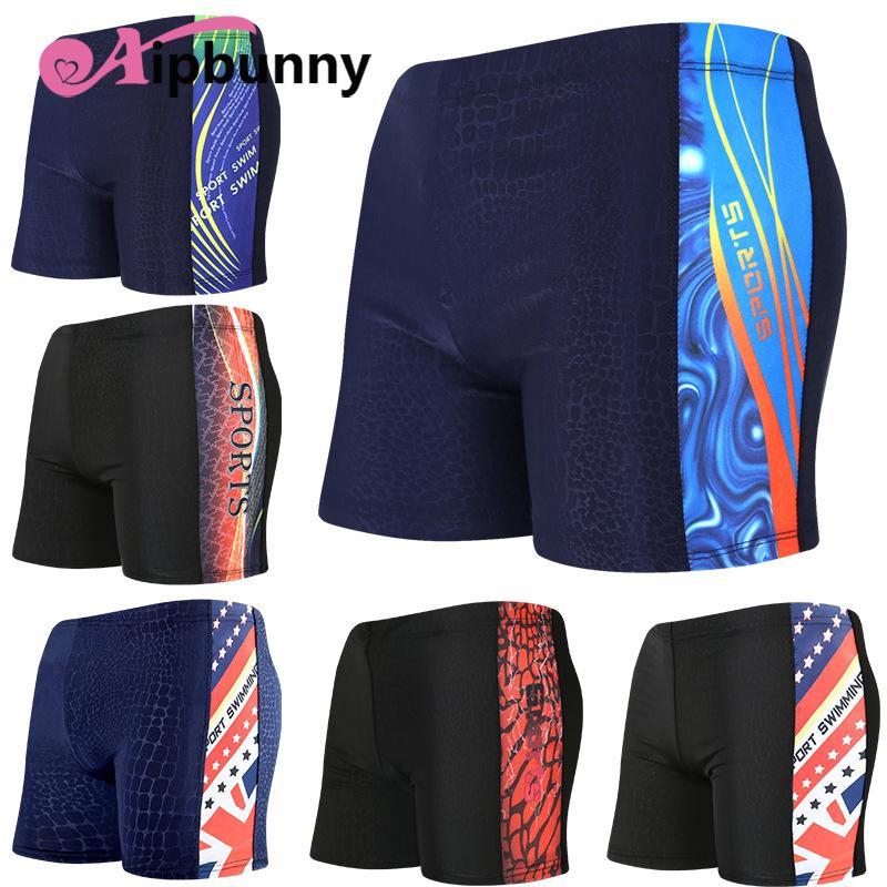 7b349d485e6 Aipbunny Printed Sexy Trunks Board Shorts Bath Surfing Sheer ...