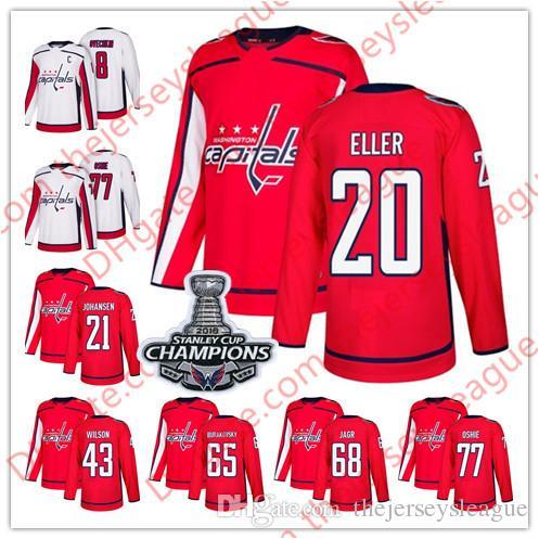 56f9c90cc41 2019 Washington Capitals 2018  13 Jakub Vrana 18 Chandler Stephenson 20  Lars Eller 22 Madison Bowey White Home Red Stitched Hockey Jerseys S 60  From ...
