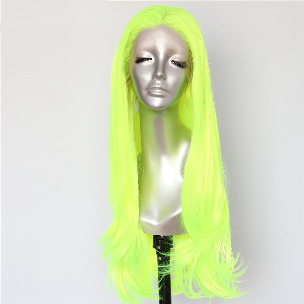 Acquista Parrucche Luckystar Parrucche Frontali In Pizzo Sintetico Giallo  Ondulato Al Naturale Di Halloween Drag Queen Parrucche Resistenti Al Calore  ... 10e30d87f164