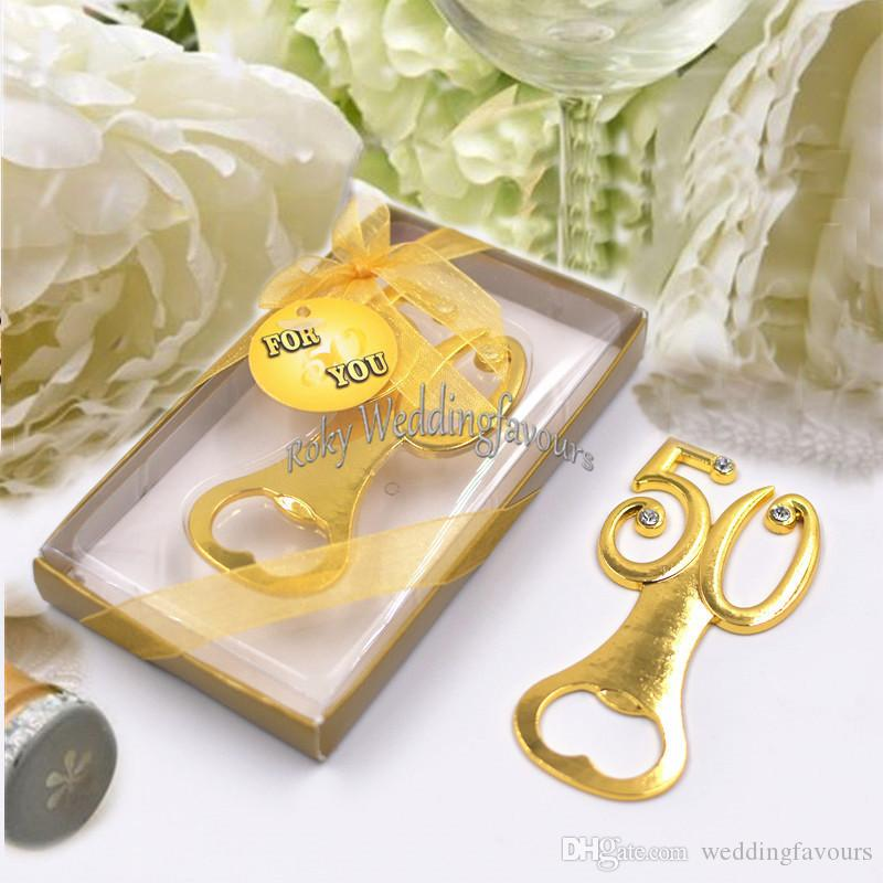 50th Bottle Opener Anniversary Favors Wedding Party Keepsake Birthday Gifts Supplies Event Giveaways Ideas Decorations