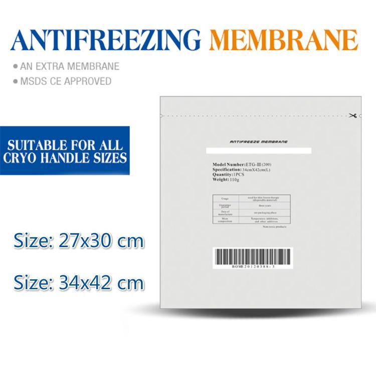 ¡¡¡ALTA CALIDAD!!! Membrana anti congelador para congelación para adelgazar con congelación con congelación de grasa cryo Membrana de enfriamiento de peso reducido Papel 50 piezas