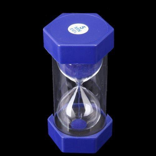 blue 5 minutes sand timer security fashion hourglass hourglasses