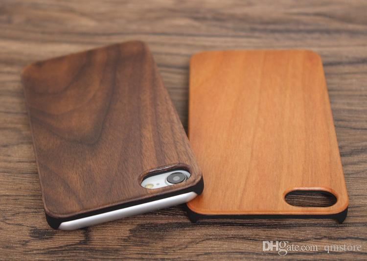 لتفاح iphone x 7 8 6 6 ثانية زائد غطاء الهاتف خشبي الطبيعة النقش الخيزران حالة الخشب لسامسونج غالاكسي s8 s7 S7edge s6