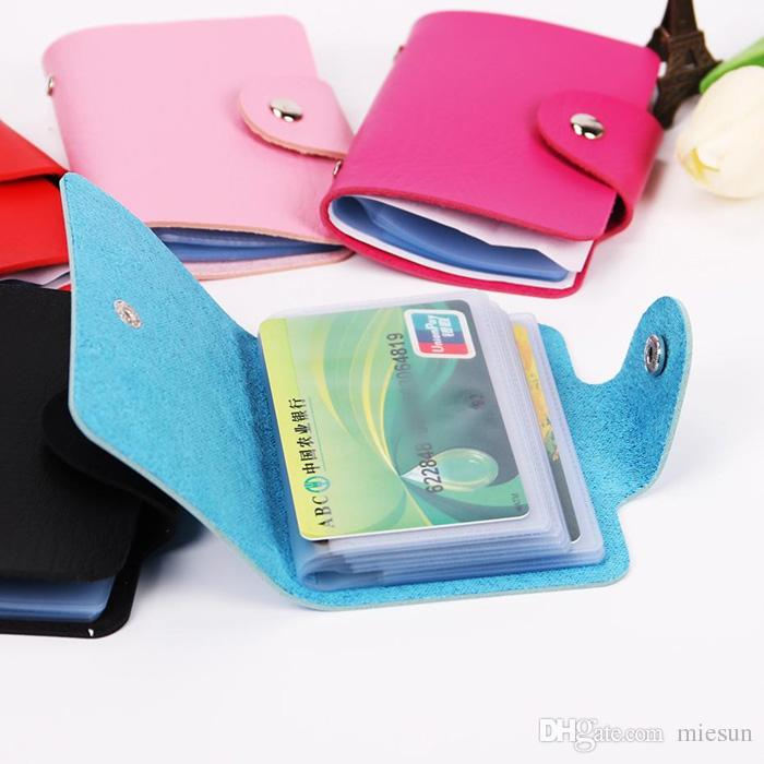 24Card Slots Double Side Plastic Card Holder Small Size Business Credit Card Bag