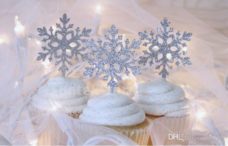Discount Wholesale 10 Paper Snowflake Cake Topper Wedding Christmas ...