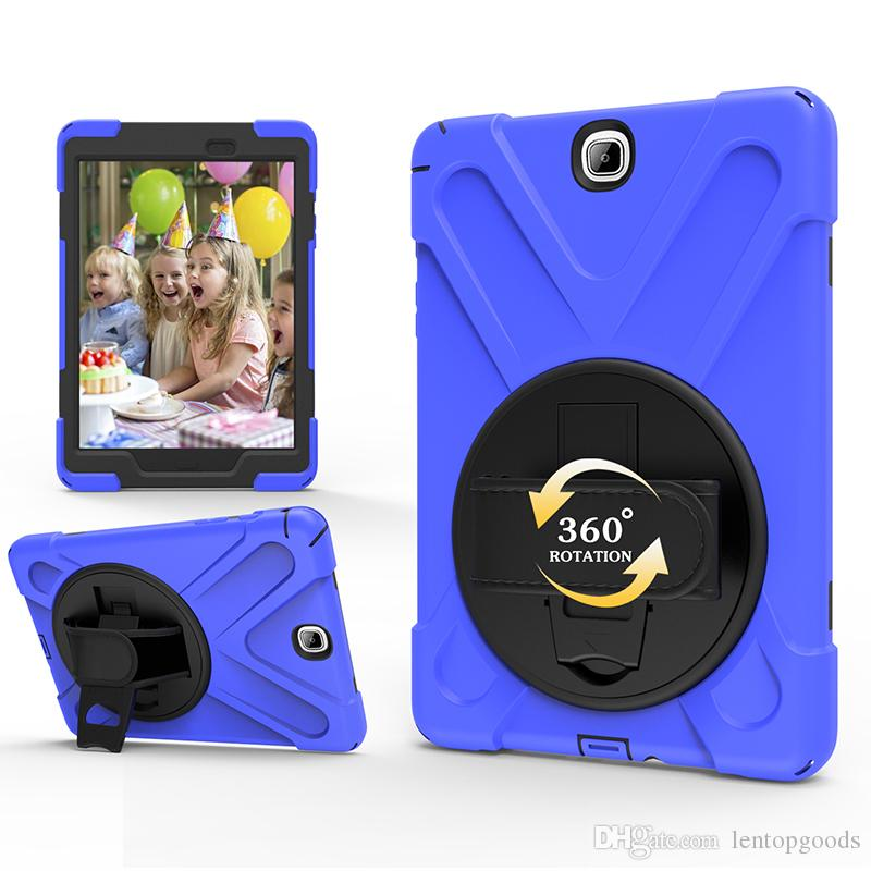 Full Body ShockProof Hybrid Silicone Case Cover for Samsung Galaxy Tab A 9.7 T550 T555 Tablet+Stylus