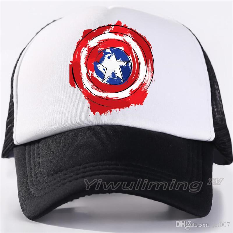 c18070677 Men Women New Summer Trucker Caps captain america Cool Summer Black Adult  Cool Baseball Mesh Net Trucker Caps Hat for Men Adultbeyonce