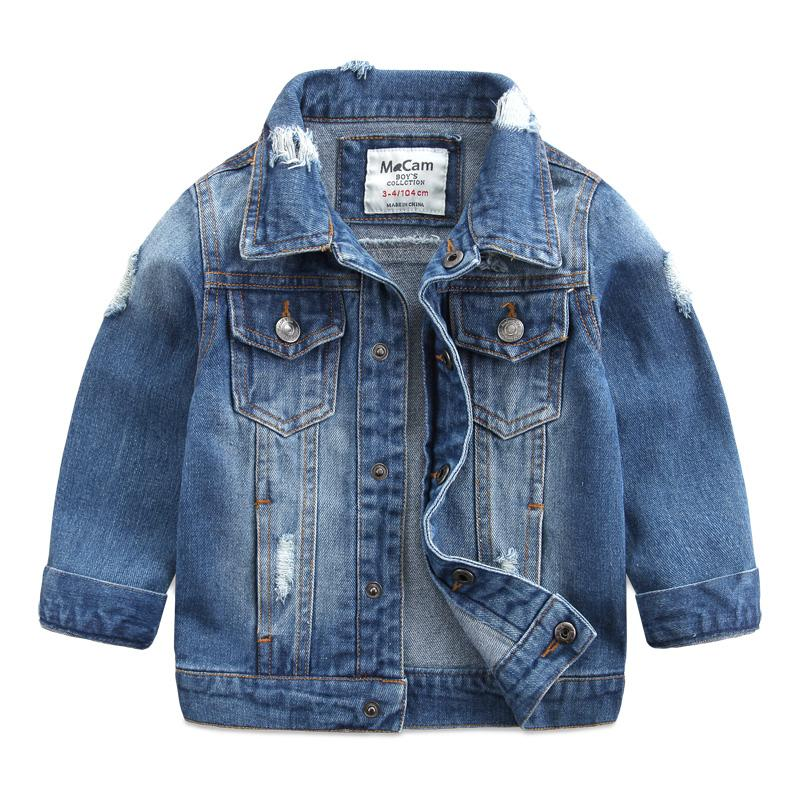 4a7eeb1efbf 2018 Spring New Fashion Children Outerwear   Coats Boys Clothing Hole Denim  Jacket Baby Kids Jackets Long Sleeve Denim Jean Coat Little Girls Coats And  ...
