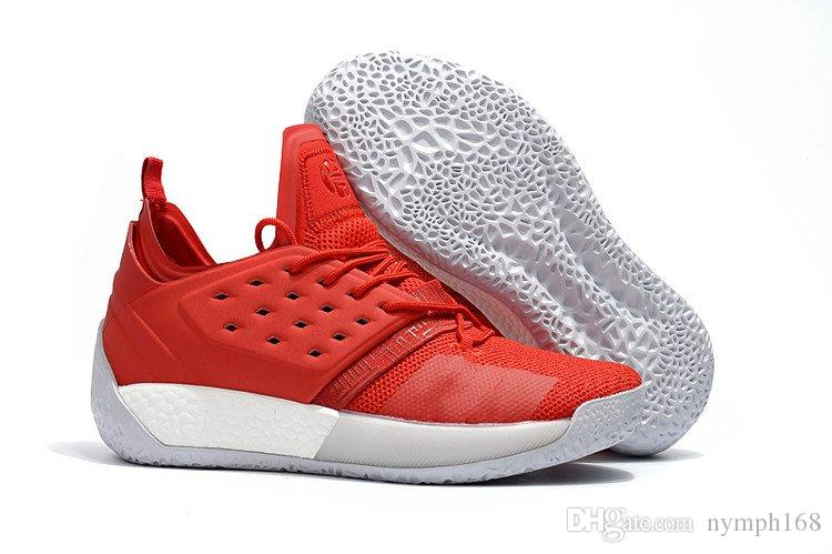 cff19b3eeec8 New Harden Vol.2 Concrete Red Black White Sports Shoes Performance ...