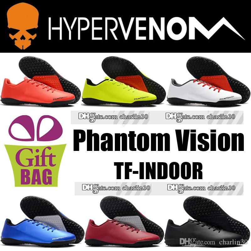 1dd6af067 New Football Boots Soccer Shoes Indoor Phantom Vision Ghost TF Soccer Boots  Men Leather Hypervenom Indoor Turf Soccer Cleats Cheap 39 46 Thigh High  Boots ...