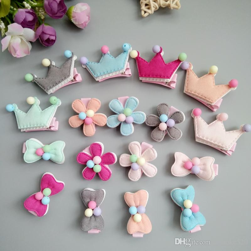 860b9f542abf Cute Crown Bow Flower Baby Girls Hair Bow Hair Clip Barrettes Hair  Accessories Color Mix Hair Accessories For Teenagers Make Your Own Hair  Accessories From ...