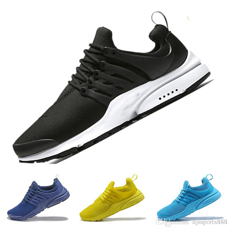brand new 09207 18e1c Acheter N10 7 New 2018 S 5 Nike Air Presto Ultra Low Br Qs Noir Blanc Jaune  Violet Rouge Gris Chaussures Casual, Femmes Hommes Top S Sneakers Taille 36  46 ...