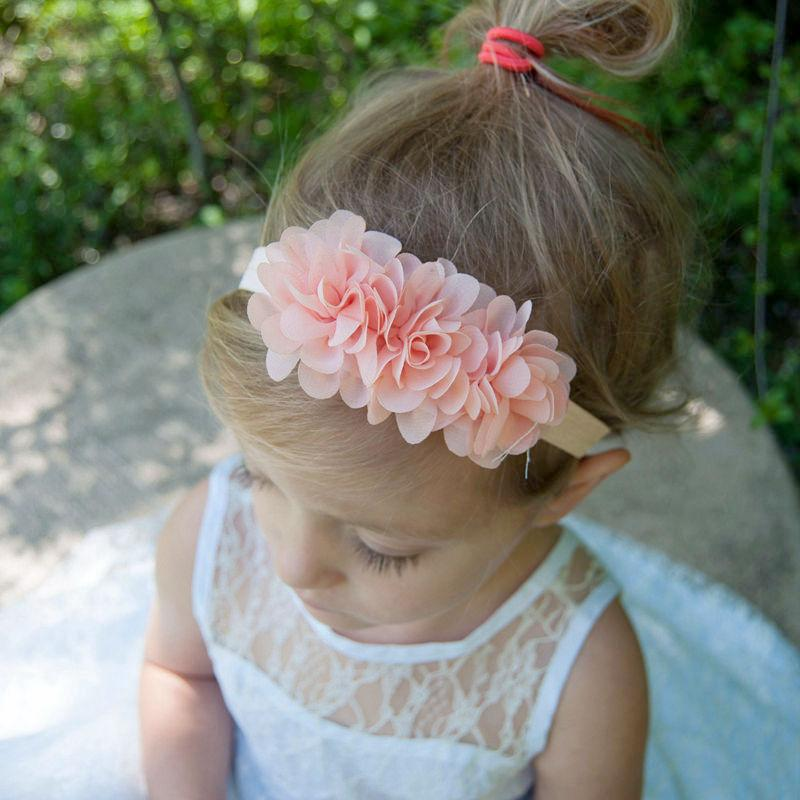 Naturalwell Baby Girls Flower Headband Chiffon Flowers Headbands 2 Tulle  Puff Flower Head Wear Photography Props HB330 Beaded Hair Accessories Hair  ... 36b63a881d7