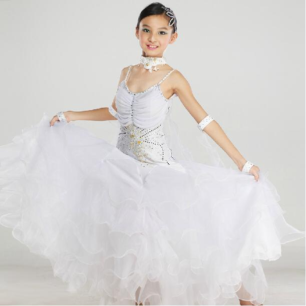 94d8ccb6f1c2 2019 New Arrival Elegant Children Kids Girls Pink White Tango Ballroom  Viennese Waltz Dress Waltz Dance Costumes From Xinpiao, $88.94 | DHgate.Com
