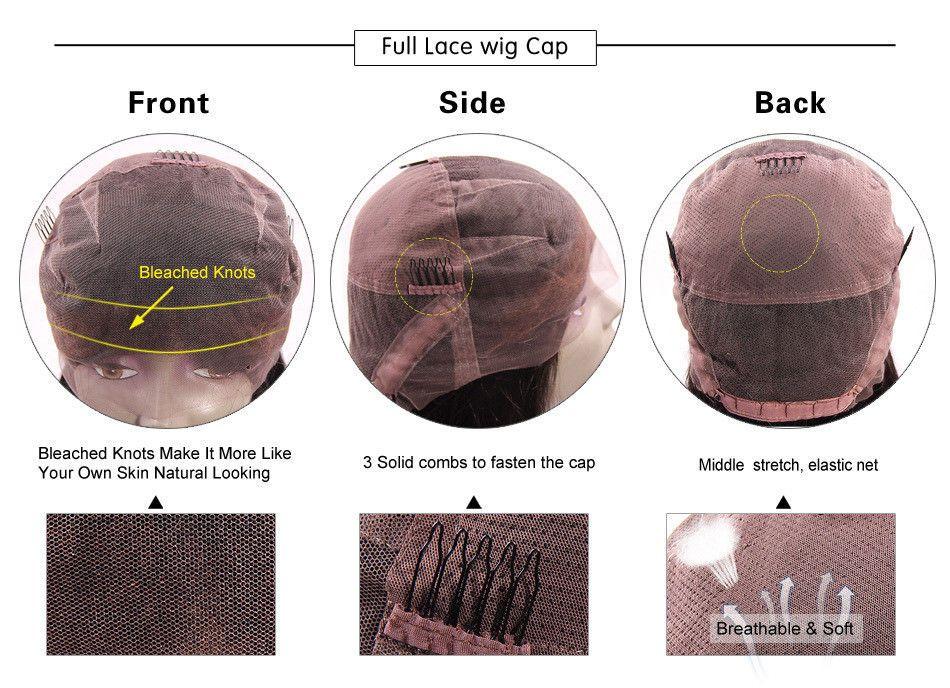 Koyu Kahverengi Ombre Dantel Ön Peruk Kısa Bob Bakire Brezilyalı Düz Gluless İnsan Saç Tam Dantel Peruk Ombre Bob Peruk ile Bebek saç