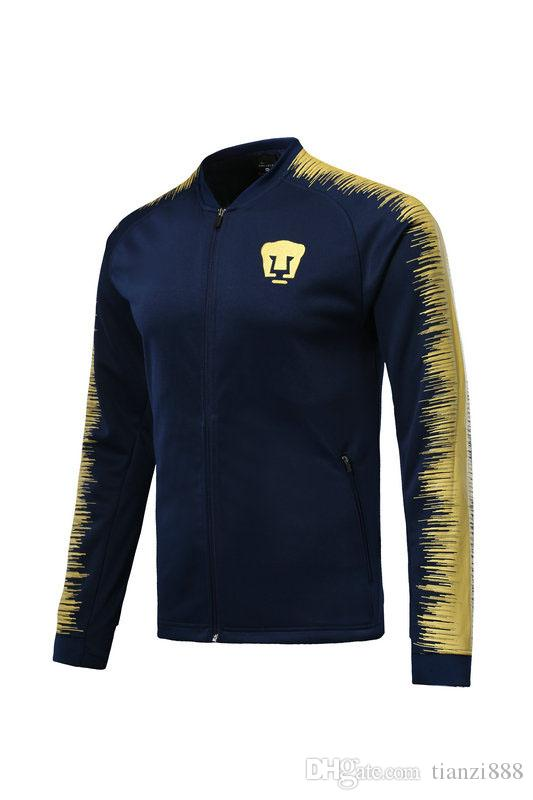 a6e044e55 2019 2018 2019 Mexico Club UNAM Soccer Jacket Fracksuit 18 19 GUERRON  CALDERON CASTILLO ABRAHAM Football Cougar UNAM Camisa From Tianzi888
