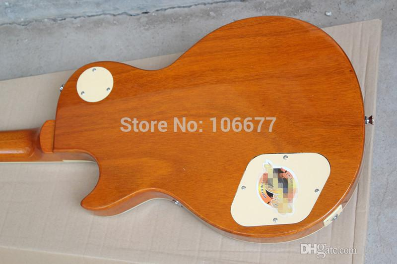 Hot Sale!!! G Les Standard 1956 Gold Top VOS Goldtop P90 Pickups One-Piece Mahogany Neck LP Electric Guitar