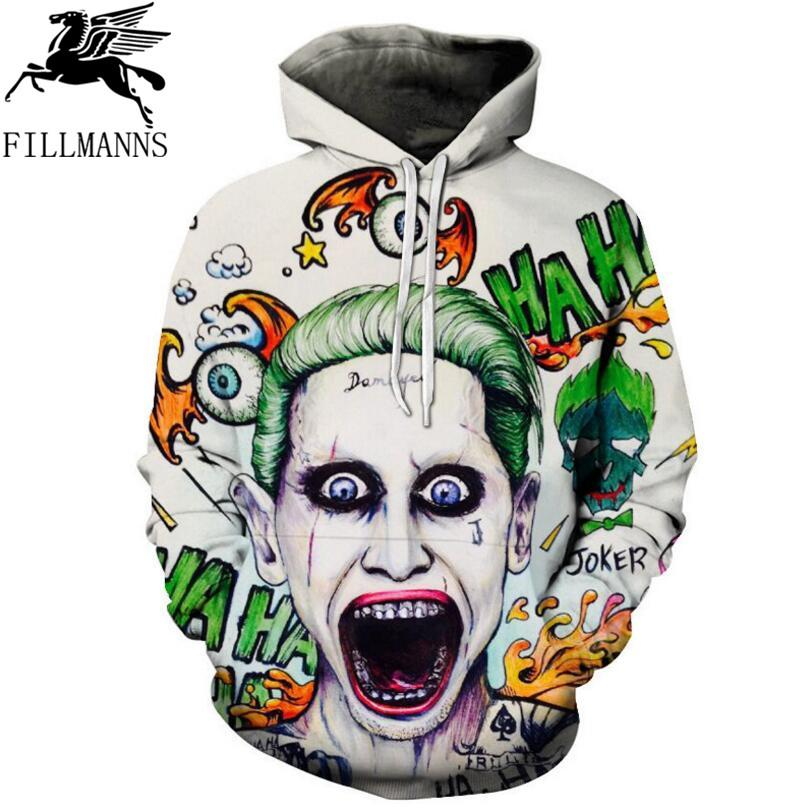 92bc9106b7ff 2019 Suicide Squad Joker 3D Hoodie Sweatshirt 2018 Autumn Spring Funny Hooded  Hoody Casual Brand Sportswear Tracksuit Men Dropship From Genguo