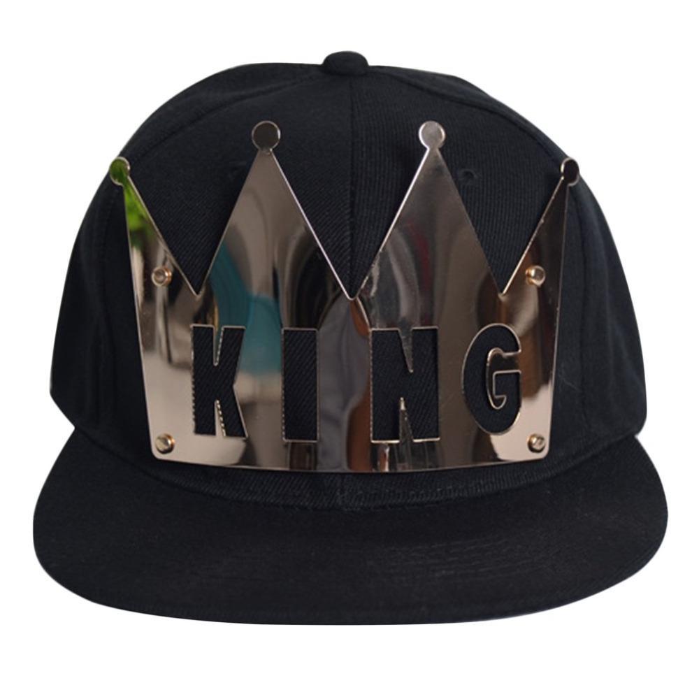 Compre Unisex KING QUEEN Cartas Gorra De Béisbol Sombrero De Hierro Corona  Hip Hop Sombrero De Algodón De Verano Sin Costuras Moda Gorras Unisex A   15.91 ... 6652bf60e7f