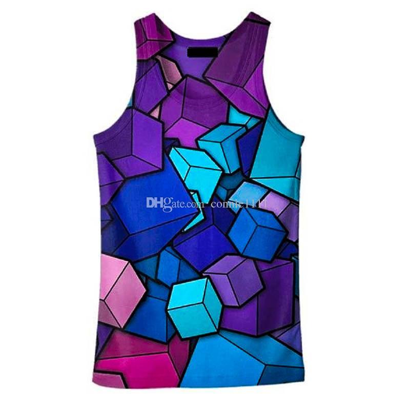 5cdae95312c5 3D Printed Vest Women Art Clothing Vests 3D Sports Vest 3d Print ...