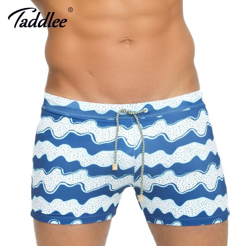 4b7c124425 Compre Taddlee Marca Swimwear Homens Plus Size Swim Boxer Troncos Board  Suring Natação Shorts Básicos Long Swimsuits Board Surf Shorts Novo De  Buxue