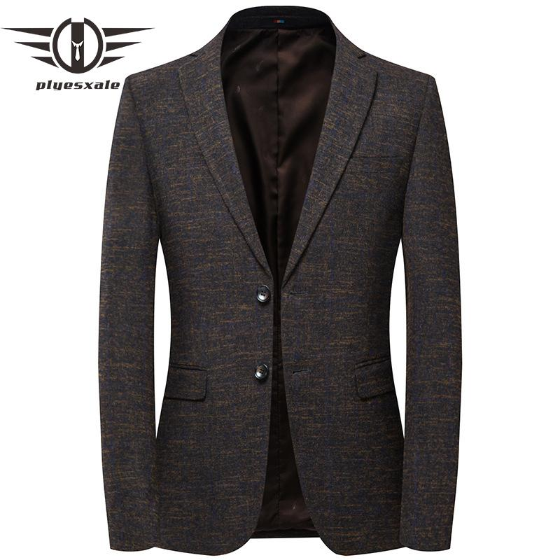 eeb2591b5bd6 2019 Plyesxale Smart Casual Blazers For Men Spring Autumn Mens Blazer Jacket  Brand Slim Fit Woolen Male Blazer 2018 Dropshipping Q507 From Rachaw, ...