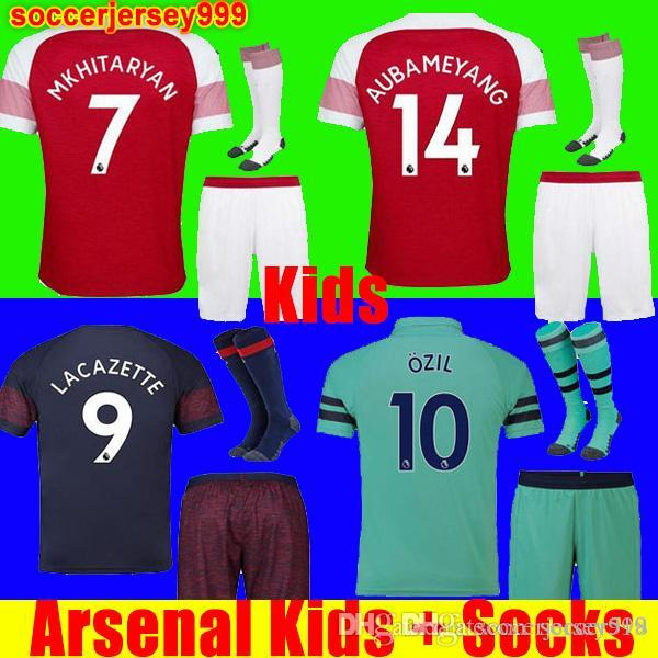 b7bcd699a31 Arsenal Soccer Jersey Football Shirt Uniforms Kids Kit 18 19 ...