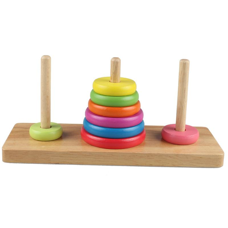 Wooden Childrens Educational Building Blocks Toys 1 3 5 6 Years Old