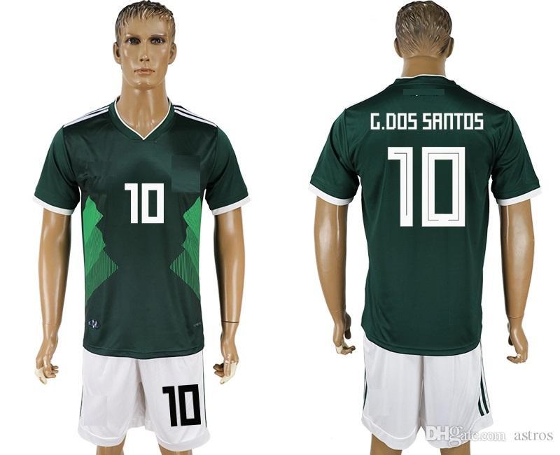 Soccer Jersey 2018 19 World Cup Mexico G.DOS SANTOS 10 Camisetas De ... e39e5f8ec