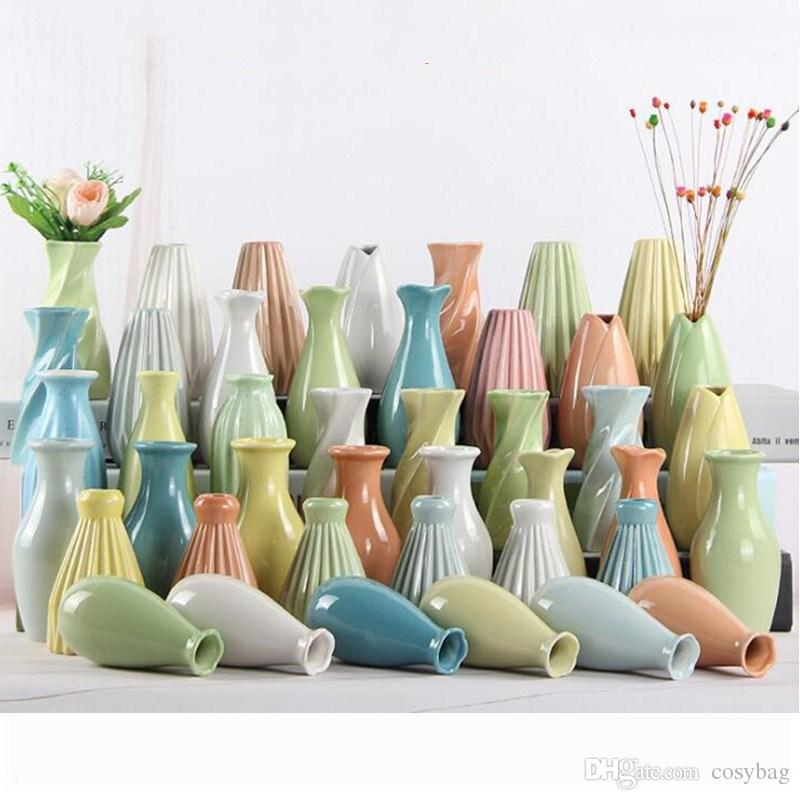 Hand Made Ceramic Bud Flower Vase Unique Single Flower Decorative
