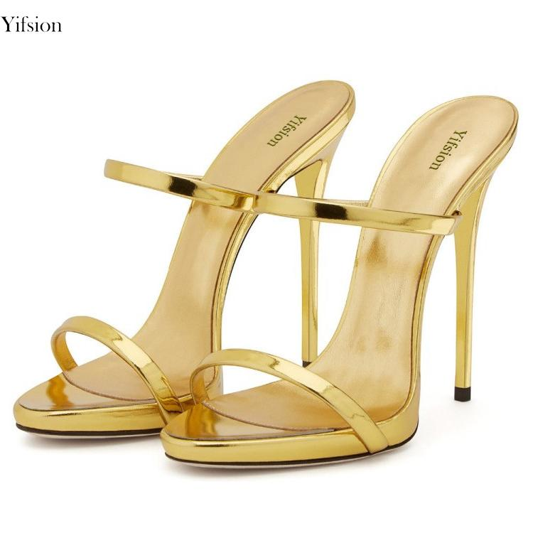 2bf284075a1a3 Yifsion Women Gladiator Sandals High Heel Mules Sandals Open Toe Nude Gold Silver  Champagne Party Shoes Ladies US Size 3 10.5 Oxford Shoes Ladies Shoes From  ...