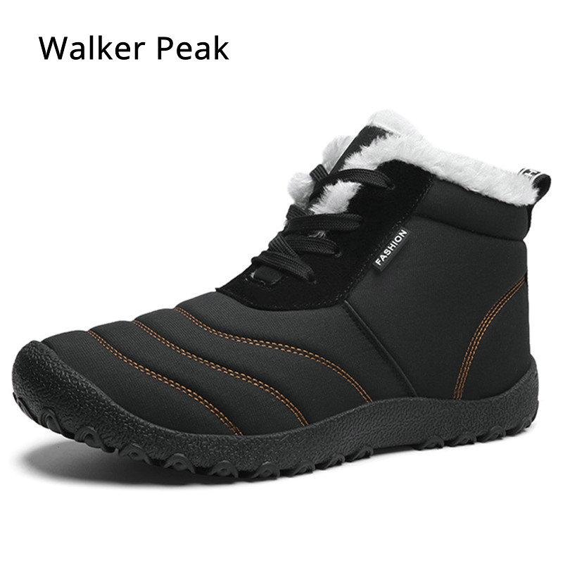 0f0b4da58b3cd Men Winter Snow Boots 2019 Waterproof Ankle Boot for man Lightweight casual  shoes Warm Mens Rain Boots Big size Male shoes WP