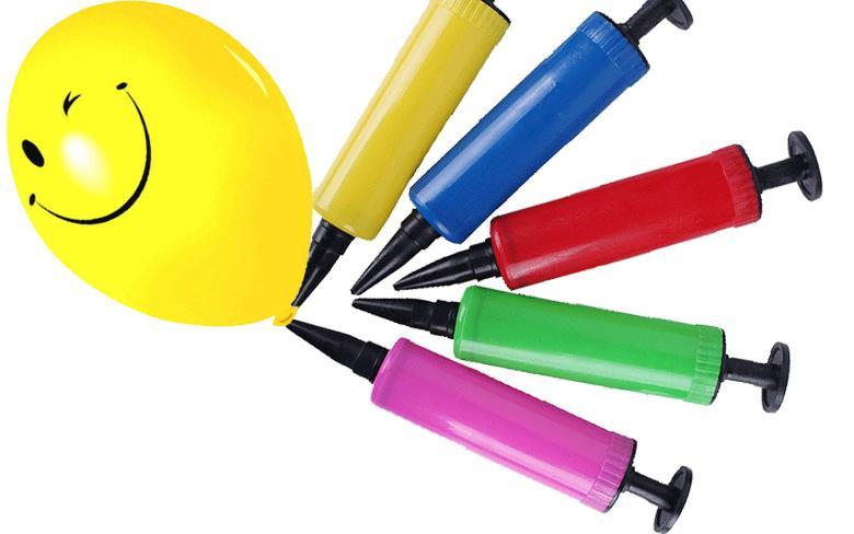 Globo de aire de la bomba del globo del empuje de la mano del inflador del globo 28g para el color del inflador del niño enviado al azar Fuentes del globo de la decoración del partido