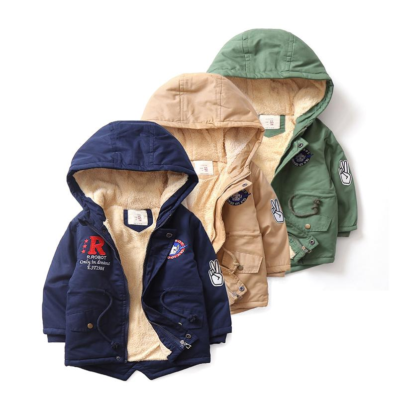 458ef176f Winter Coat For Baby Boys Girls With Fleece Warm Parka Jacket ...