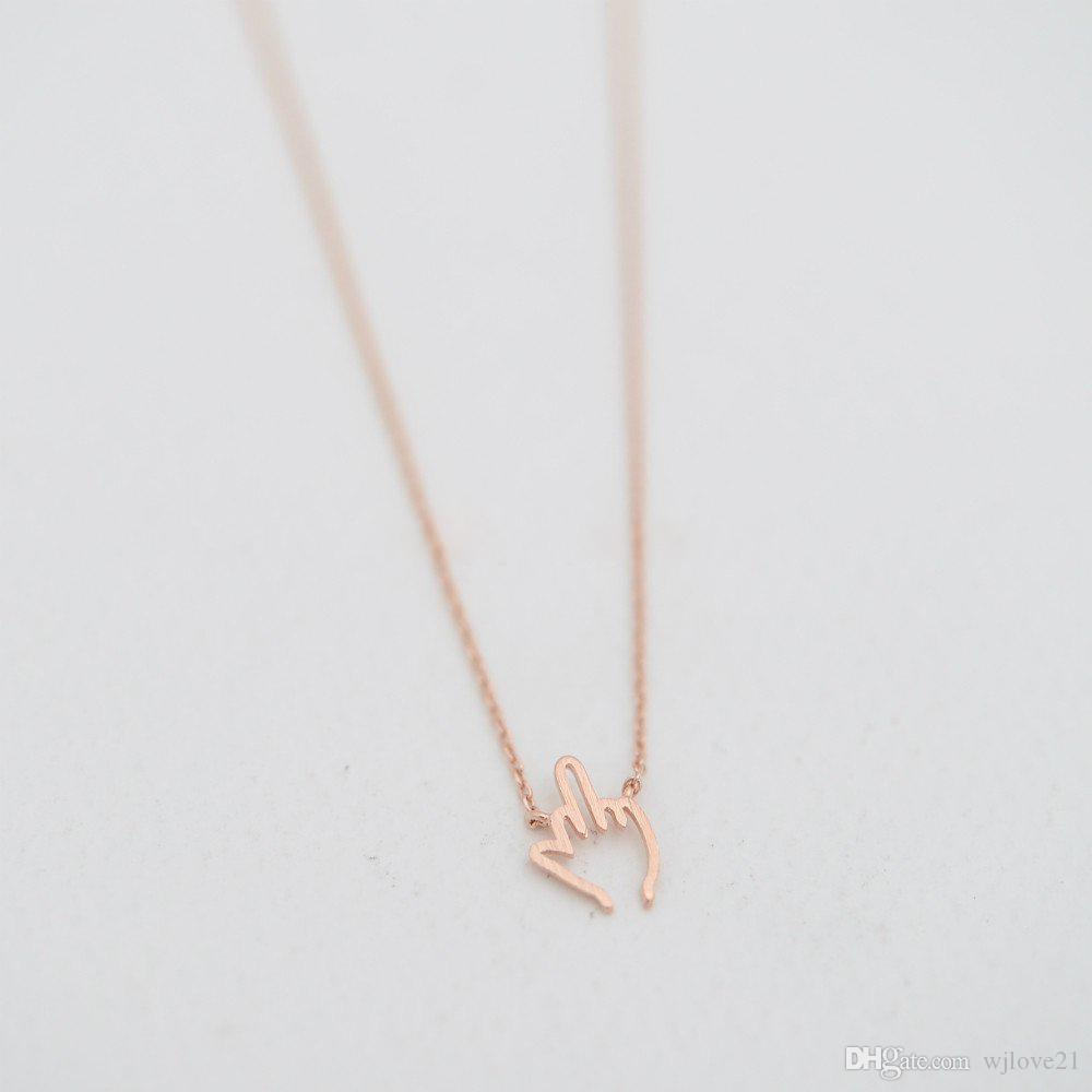 Fashionable finger pendant necklaces Uncivilized gestures middle finger pendant necklaces Originality style necklaces first gift for womem