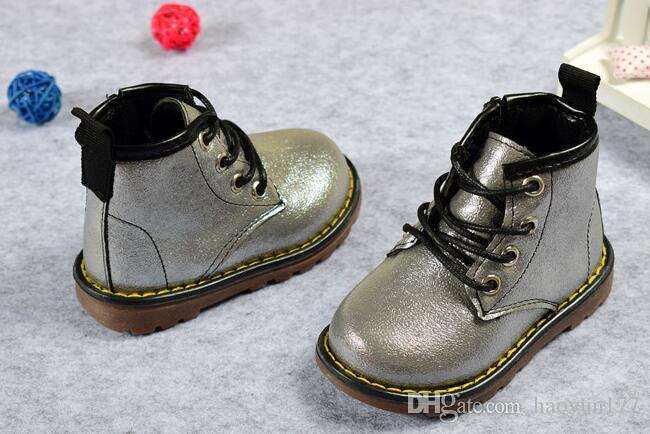250713856 Children Boots PU Leather Waterproof Martin Autumn/Winter Fashion ...
