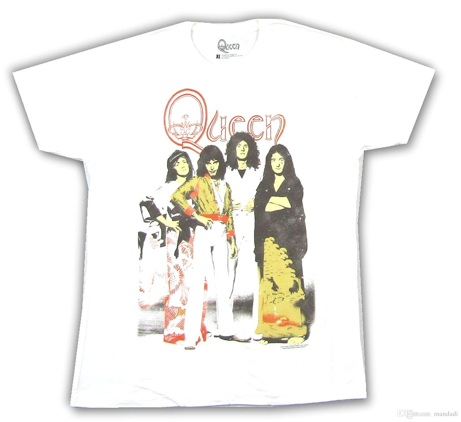6191af5651a Queen Japanese Dress White T Shirt New Official Band Merch