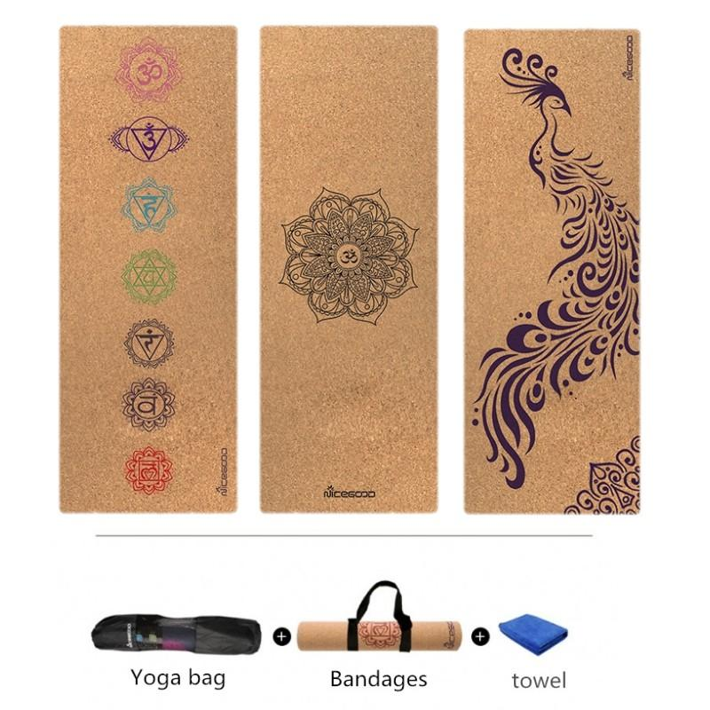 popular stores size 7 no sale tax New Cork Natural Rubber Yoga Mat Eco-Friendly Non Slip Pilates Mat Tapis  Yoga Gym Fitness Exercise Mats Gym 183cm *61cm*3mm