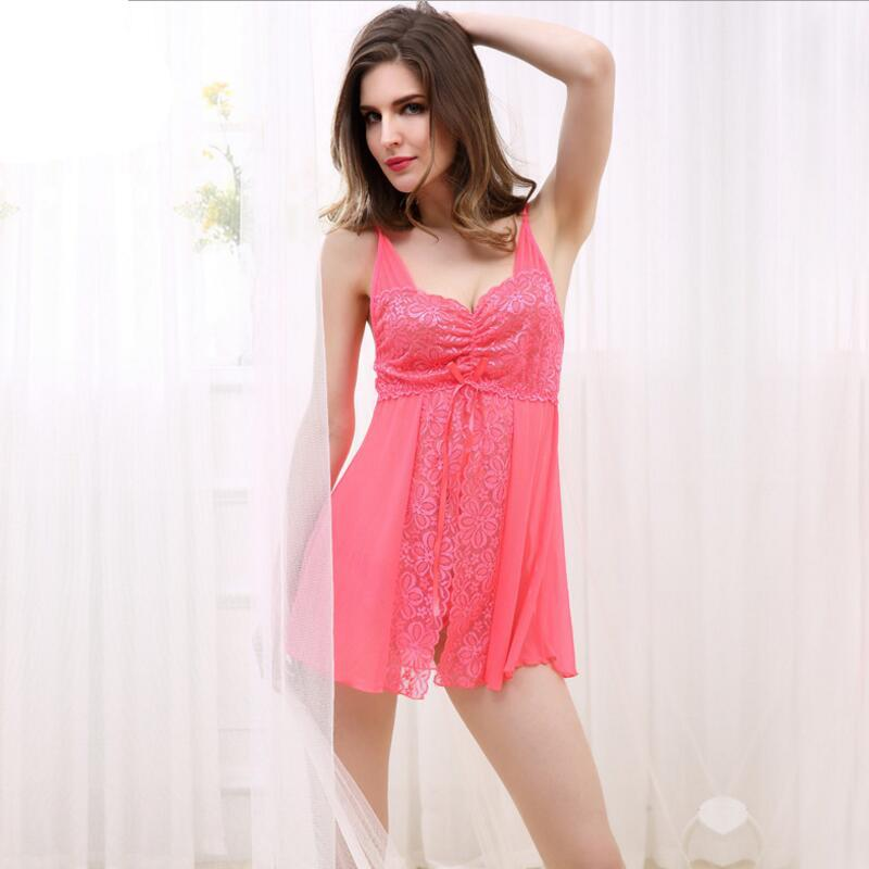 6dfed034a5c Ladies Sexy Nightdress V Neck Floral Sleepwear Lingerie Babydoll Nightgown  Mini Sleeveless Women Sleep Dress Cheap And Sexy Ladies Pajamas Sets From  Asshown ...