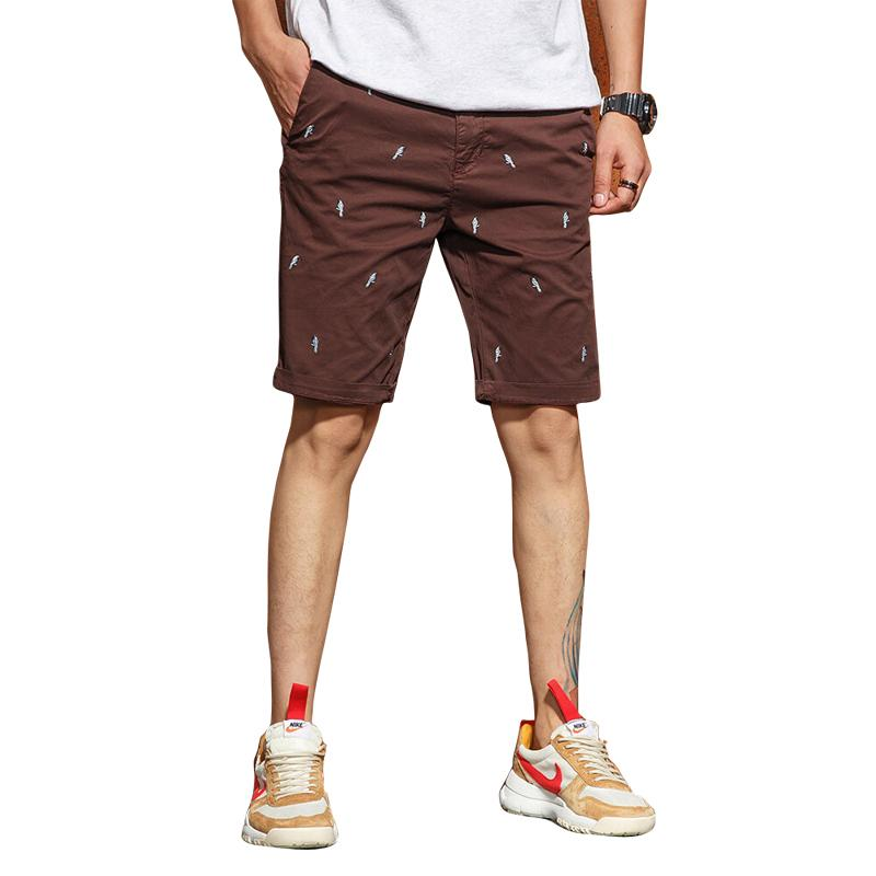 9c07489b4fb 2019 2018 Summer Autumn New Mens Casual Shorts Male Loose Work Shorts  Embroidery Cotton Breathable Masculino G3567 From Bida Josh