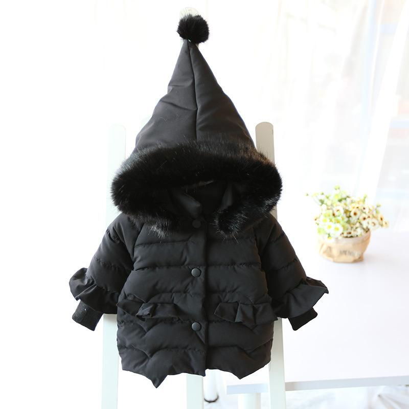 0b043fea5 Coat Baby Girl Infant Hoodie Thickness Autumn Winter Infant Jacket ...