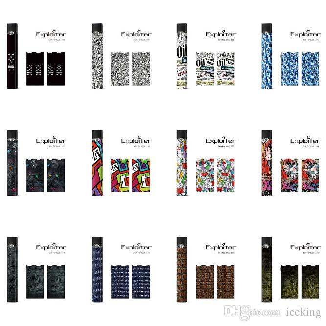 Sticker For Juul Wraps For Juul Kits Customized Paper Cover Sticker  Electronic Cigarette Skin For Juul Kits Cartridges Pods