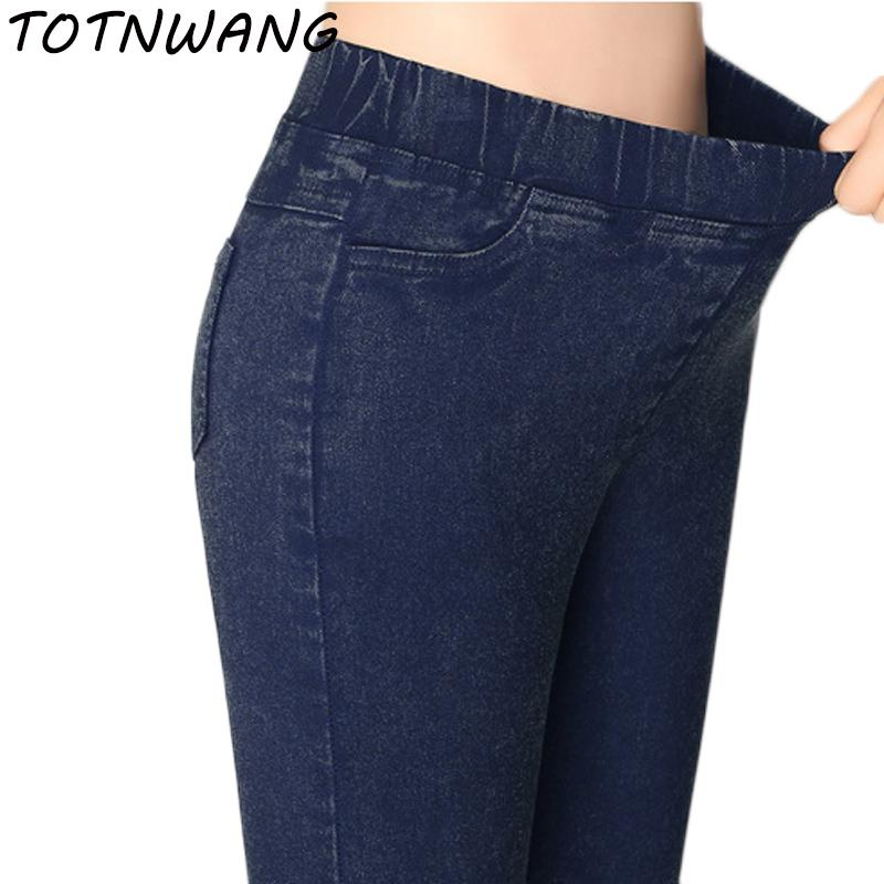 0ea8ebf161226 ... Plus Size Yards Imitation Jeans Pants Women 2018 Spring Summer ...  4aa3a0fc1181  New Spring 2018 Fashion ...