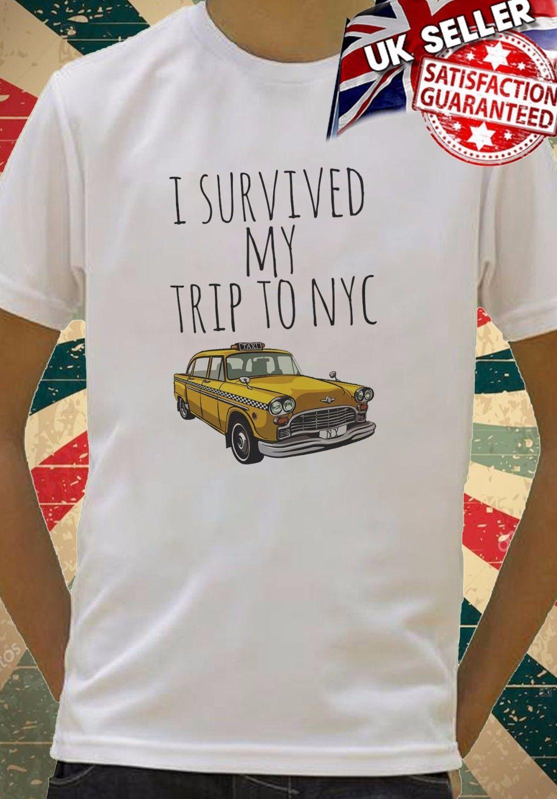 I Survived My Trip To Nyc New York Cool Kids Boy Girls Unisex Top T