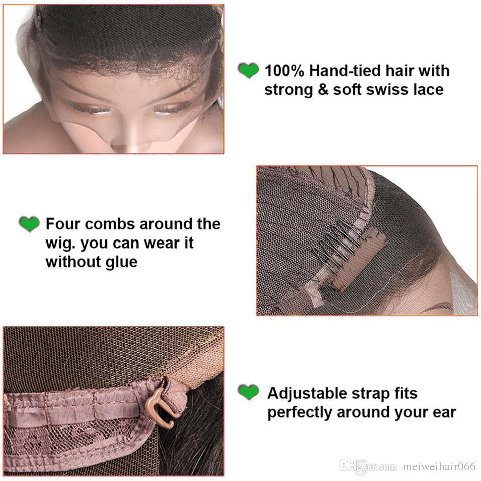 Grade 8A Unprocessed Human Hair Wigs for Black Women Glueless Lace Front Wigs Brazilian Peruvian Malaysian Indian Hair Lace Wigs