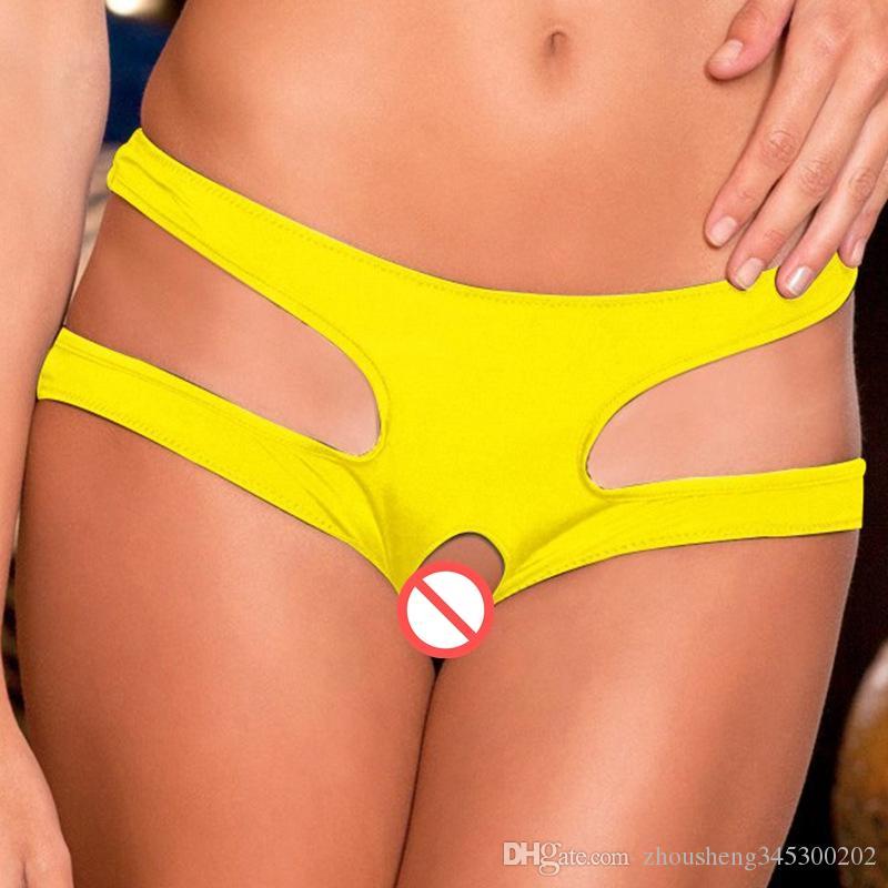 2 pz / lotto i cavallo aperto pantaloni sexy biancheria intima apertura mutandine bikini perizoma g-string t-back mutandine slip donna signore lingerie
