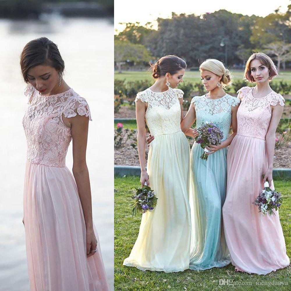 2016 lace chiffon maid of honor dresses real image plus size cap 2016 lace chiffon maid of honor dresses real image plus size cap sleeve pink mint daffidol cheap beach bridesmaid party evening gowns custo cocktail ombrellifo Choice Image