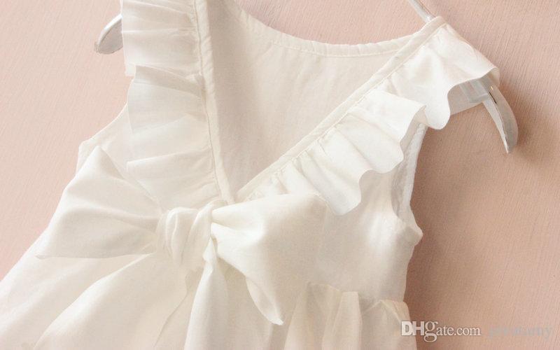 Prinzessinkleid-Kinder des Sommers kleidet großes Bogenmädchenkleidkinderkleidungs-Mädchenweste-Rock des Sommers neue an