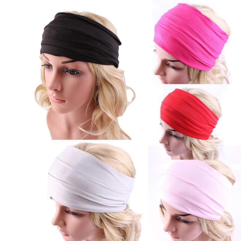 Summer Turban Headband For Women Elastic Sport Hairbands Head Band Yoga  Headbands Headwrap Girls Hair Accessories Bandeau Cheveu Hair Accessories  For Ladies ... bcdcf170a0d