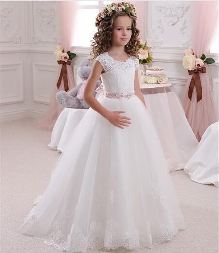 0d9adf41b New Summer Baby Girls Party Dress Evening Wear Long Tail Girls ...